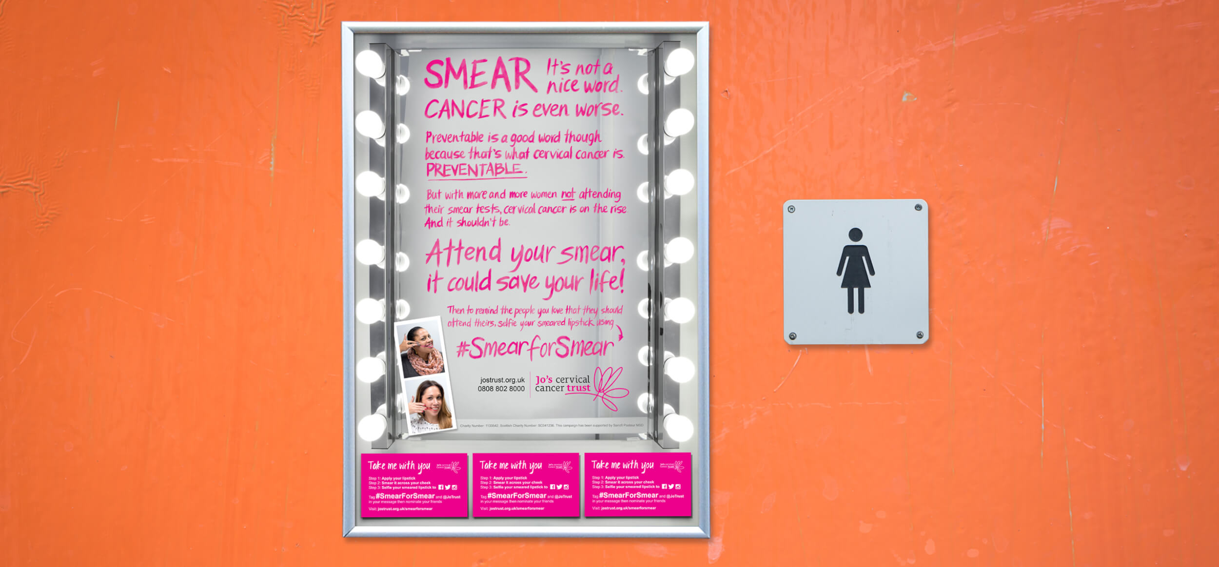 Jo's Trust Prevention Awareness Campaign Washroom Poster