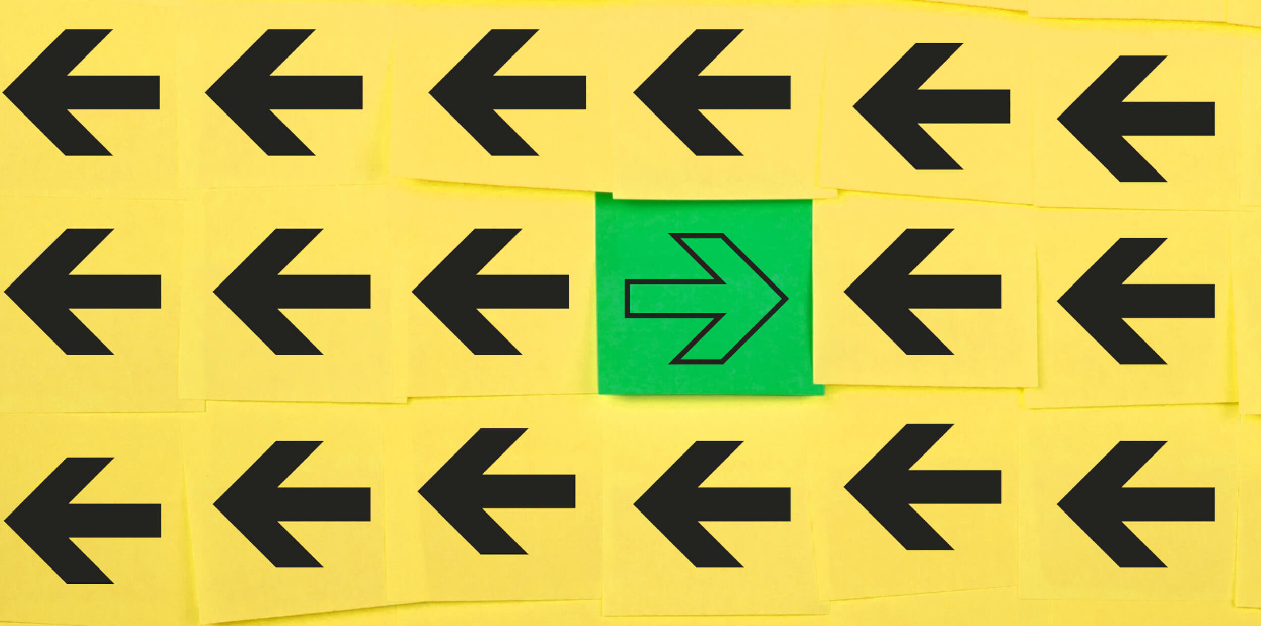Resistance into readiness - arrows facing the opposite direction